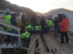 This is the whole group that was out of the island from my class that were constructing the sauna