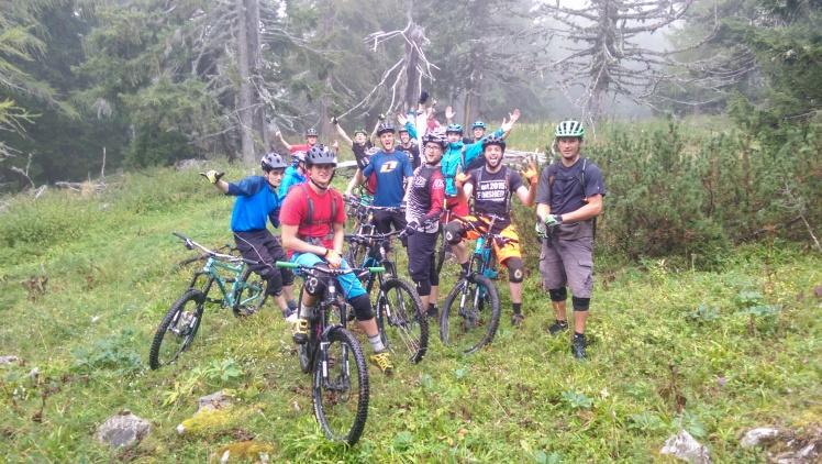 koroska mountain biking, misty riding on petzen peca in slovenia