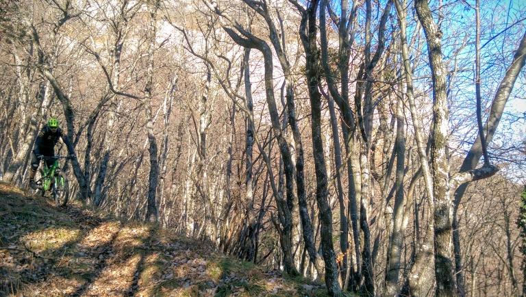 winter riding on bois du mollard near grenoble